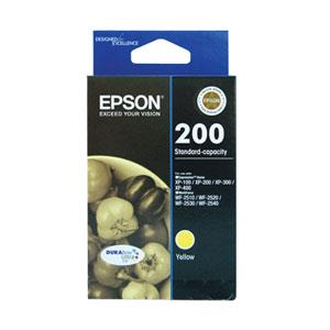 Image of Epson 200 Yellow Ink Cartridge 165 Pages Yellow T200492