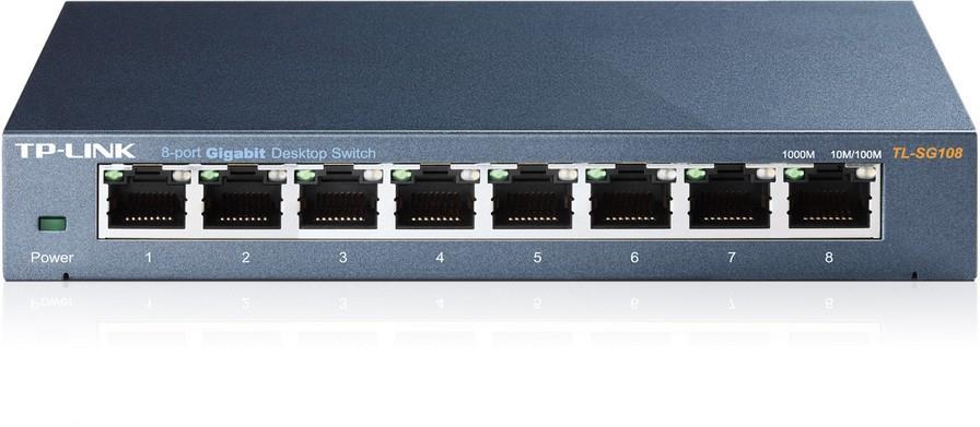 Image of Tp-link Tl-sg108 8 Port Gigabit Desktop Switch - Metal Housing