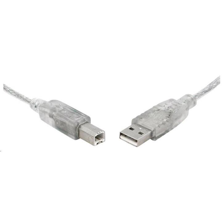 Image of 8ware Usb 2.0 Certified Cable A-b 1m Transparent Metal Sheath Ul Approved