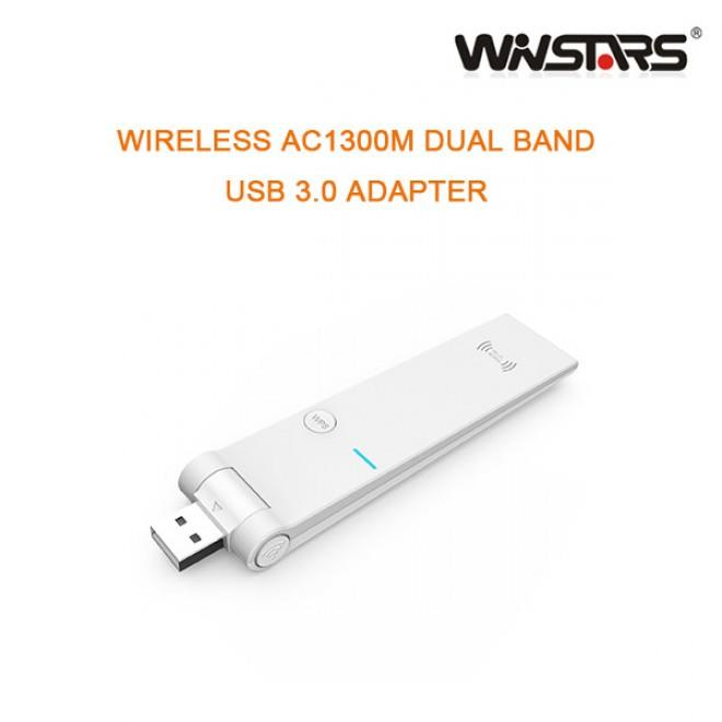 Image of Winstar Wireless Ac1300m Dual Band Usb 3.0 Adapter