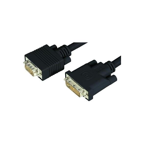 Image of Ww 2m Dvi-a Male To Hd15 15pin Male Vga Video Adapter Cable