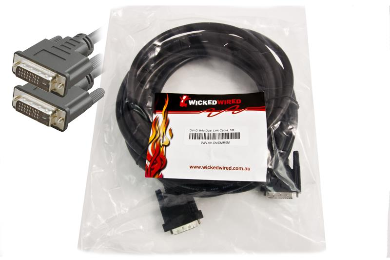 Image of Ww 5m Dvi-d Male To Dvi-d Male Dual Link Audio Visual Cable
