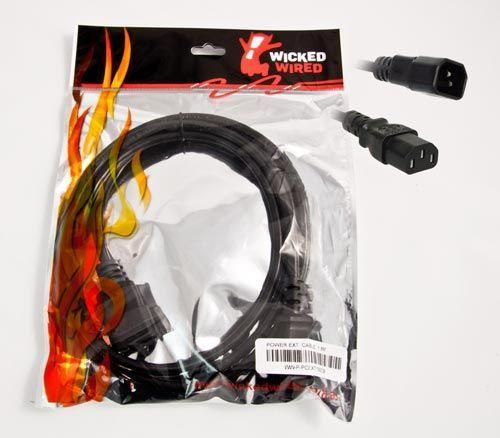 Image of Wicked Wired Ww-p-pcext180cm 1.8m Standard Male Iec To Standard Female Iec Power Extension Cable