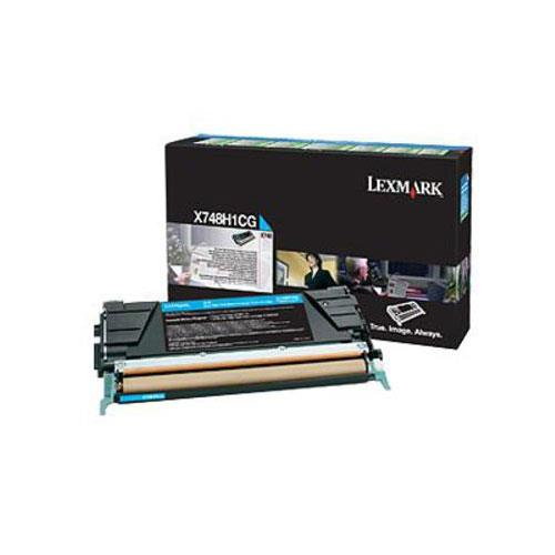 Image of Lexmark X748h1cg High Yield Cyan Prebate Cartridge 10,000 Pages