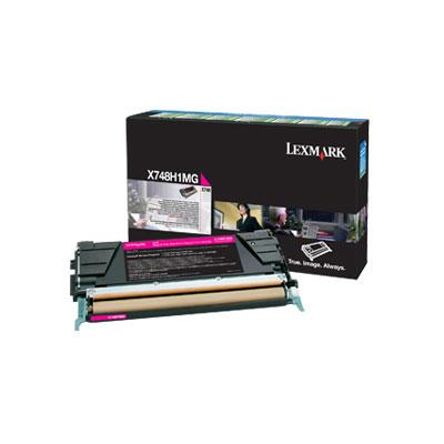 Image of Lexmark X748h1mg High Yield Magenta Prebate Cart 10,000 Pages