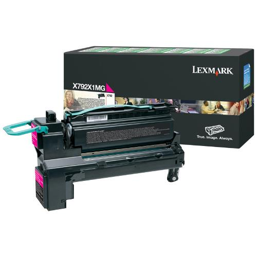 Image of Lexmark X792x1mg High Yield Prebate Magenta Cartridge 20,000 Pages