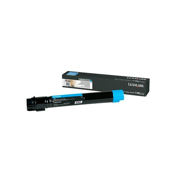 Image of Lexmark X950x2cg Cyan Toner 22,000 Pages