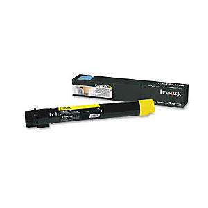 Image of Lexmark X950x2yg Yellow Toner 22,000 Pages