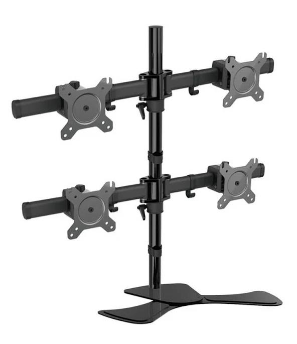 Image of Vision Mounts Quad Four Display Screen Screen Adjustable Desk Bracket Stand