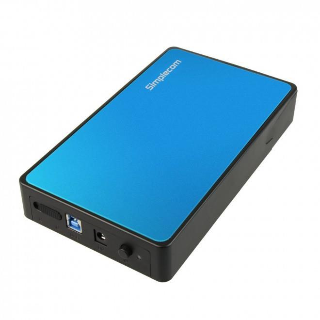 "Image of Simplecom Se325 Tool Free 3.5"" Sata Hdd To Usb 3.0 Hard Drive Enclosure Blue"