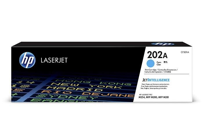 Image of Hp 202a Cyan Laserjet Toner Cartridge Cf501a
