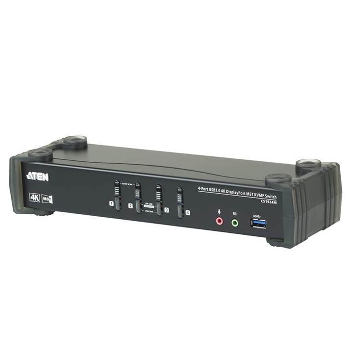 Image of Aten Cs1924m-at-u 4 Port Usb 3.0 4k Displayport Mst Kvmp Switch