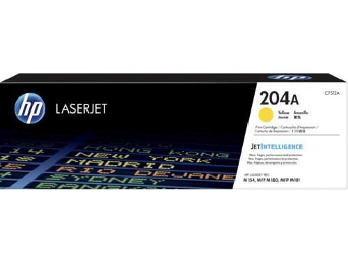 Image of Hp Cf512a Hp 204a Yellow Laserjet Toner Cartridge