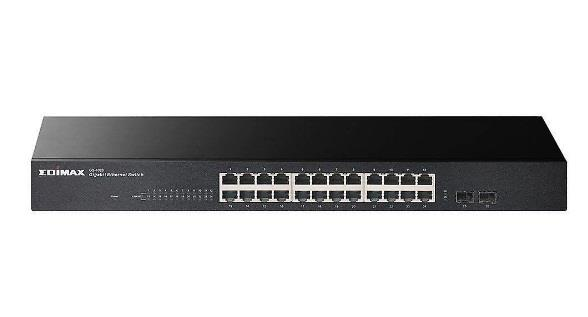 Image of Edimax Gs-1026 V2 24-port Gigabit With 2 Sfp Slots Rack-mount Switch