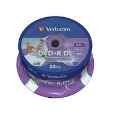 Image of Verbatim 8x Dvd+r Double Layer 8.5gb Disc 25 Pack
