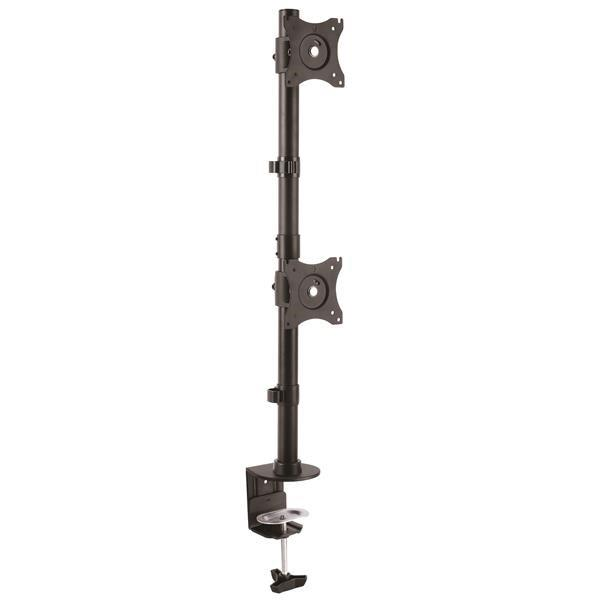 Image of Startech Vertical Dual Monitor Mount - Steel - For Monitors Up To 27in Armdualv