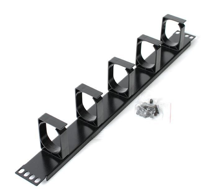 Image of Astrotek 1u Rack Mount Cable Management Plastic Panel