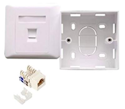 Image of Astrotek Cat6 Rj45 Wall Face Plate 86x86mm 1 Port Socket Kit