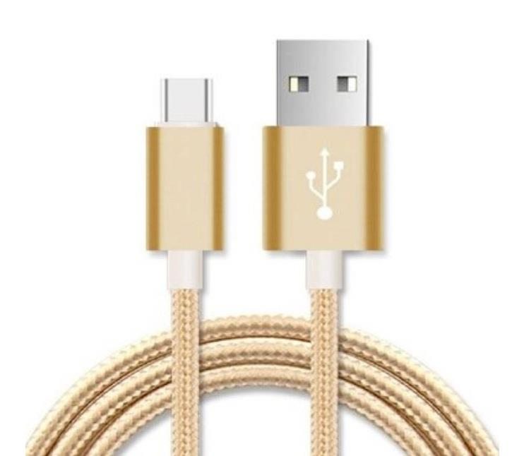 Image of Astrotek 2m Micro Usb Data Sync Charger Cable Cord Gold Color For Samsung Htc Motorola Nokia Kndle Android Phone Tablet & Devices