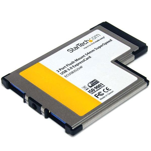 Image of Startech Ecusb3s254f Flush Mount Expresscard 54mm Usb 3 Card