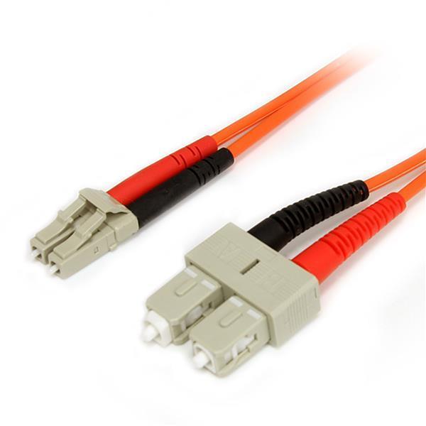 Image of Startech 5m Fiber Optic Cable - Multimode Duplex 62.5/125 Lszh - Lc/sc Fiblcsc5