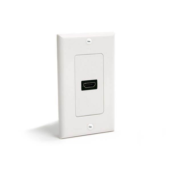 Image of Startech Single Outlet Hdmi Female Wall Plate - White Hdmiplate