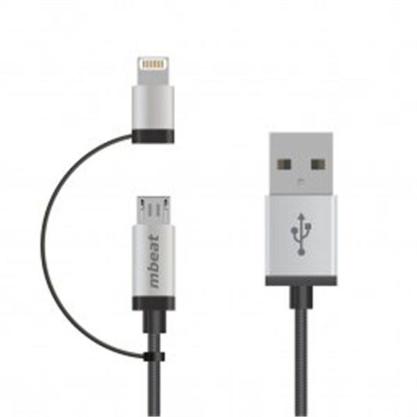 Image of Mbeat Lightning With Micro Usb Data Cable In 1m