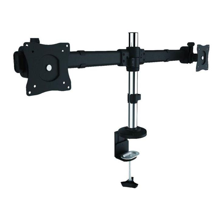 "Image of Brateck Dual Lcd Monitor Desk Mount With Clamp Vesa 75/100mm Up To 27"" Ldt06-c02"