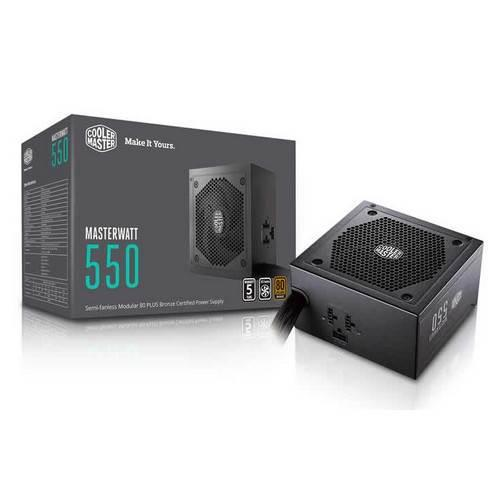 Image of Cooler Master Masterwatt 550w 80+ Bronze Semi-modular Power Supply Mpx-5501-amaab-au