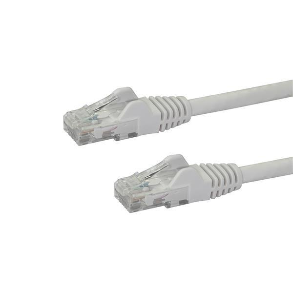 Image of Startech 0.5m White Cat6 / Cat 6 Snagless Ethernet Patch Cable 0.5 M N6patc50cmwh