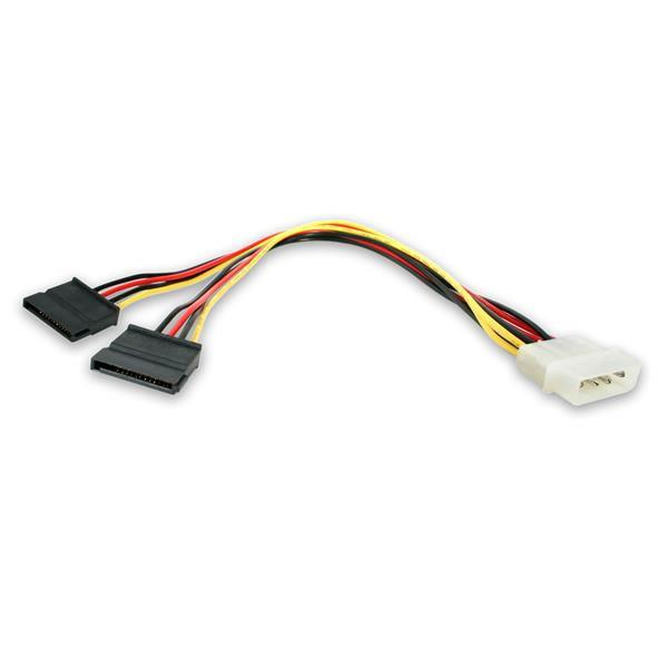 Image of Startech Lp4 To 2x Sata Power Y Cable Adapter Pyo2lp4sata