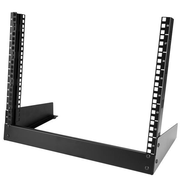 Image of Startech 8u Desktop Rack - 19 In. 2-post Open Frame Rack Rk8od