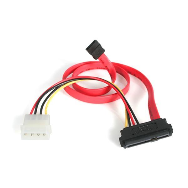 Image of Startech 18in Sas 29 Pin To Sata Cable With Lp4 Power Sas729pw18