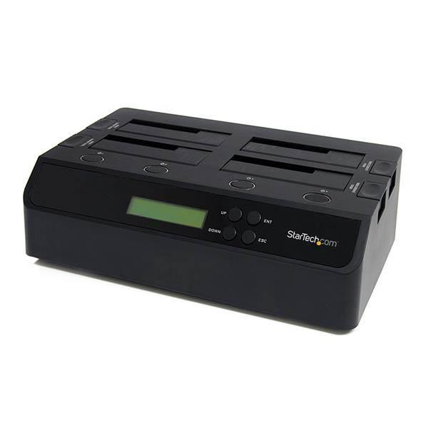 Image of Startech Satdock4u3re Usb 3 Esata Sata 1:3 Hdd Duplicator Dock