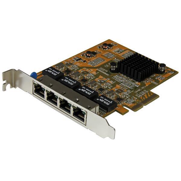 Image of Startech St1000spex43 4-port Pcie Gigabit Network Adapter Card