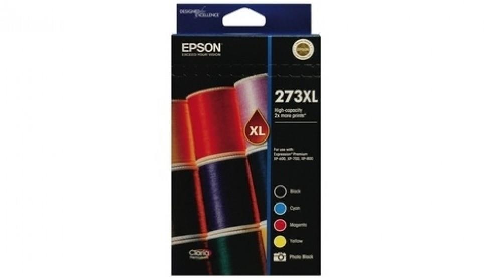 Image of Epson 273xl High Capacity Claria Premium 5 Ink Value Pack Expression Premium Xp-600| Xp-700| Xp-800