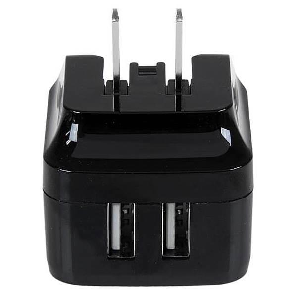 Image of Startech Usb2pacbk Dual Port Usb Wall Charger 17w 3.4a