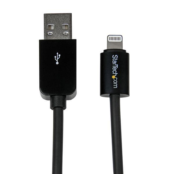 Image of Startech Usblt2mb 2m Black 8-pin Lightning To Usb Cable