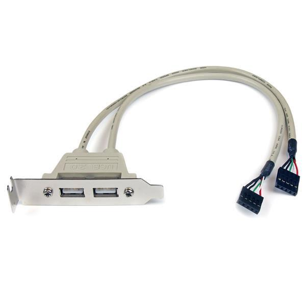 Image of Startech Usbplatelp 2 Port Usb Lp Slot Plate Adapter
