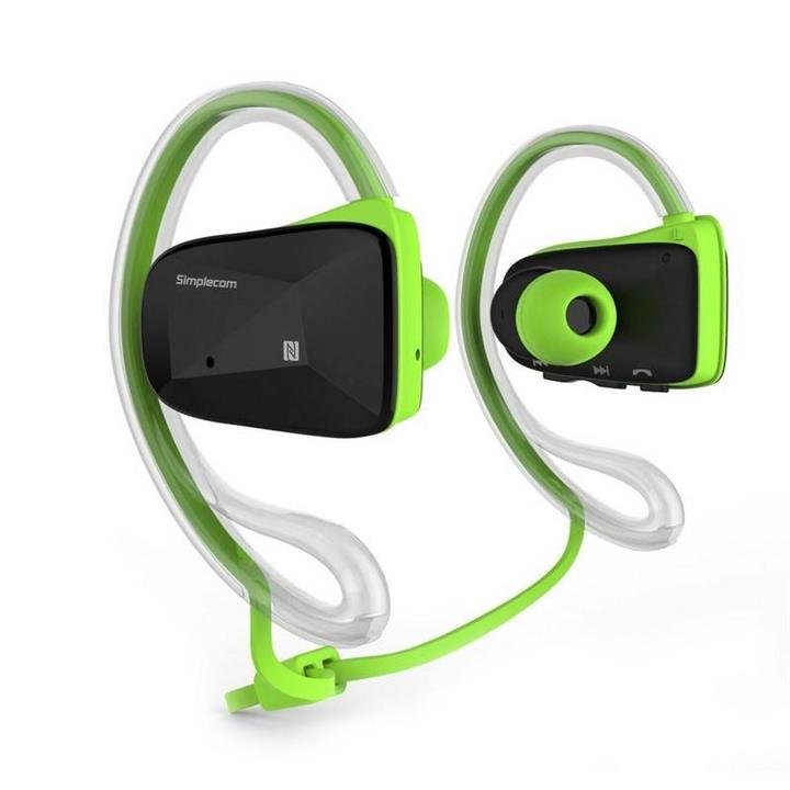 Image of Simplecom Ns200 Bluetooth Neckband Sports Headphones With Nfc Green