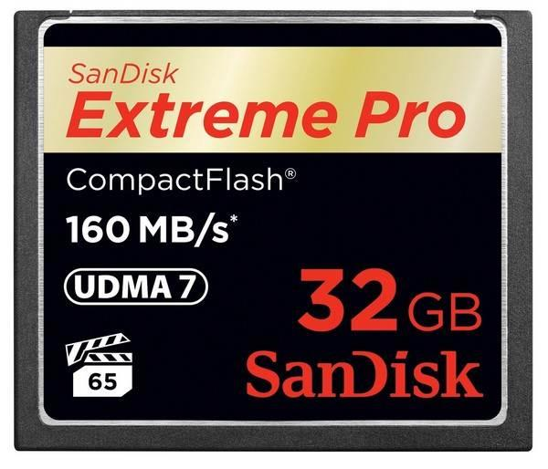 Image of Sandisk 32gb Extreme Pro Cf Compactflash Memory Card - 160mb/s Sdcfxps-032g