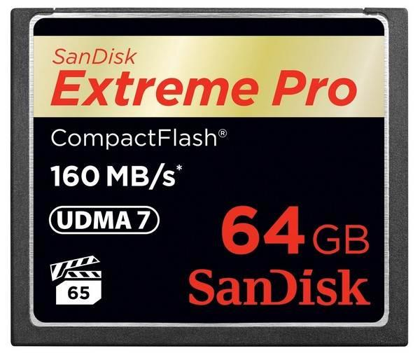 Image of Sandisk 64gb Extreme Pro Cf Compactflash Memory Card - 160mb/s Sdcfxps-064g