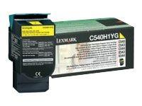 Image of Lexmark C540h1yg Yellow Toner Yield 2k Pages For C540 C543 C544 X543 X544
