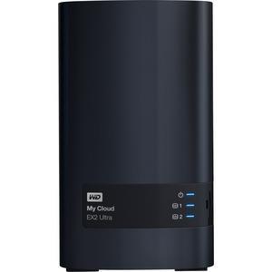 Image of Wd My Cloud Ex2 Ultra 2-bay 12tb Hotswap Nas 1.3ghz Dual-core 1gb Ram Wdbvbz0120jch