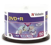 Image of Verbatim Dvd+r 4.7gb 50pk Spindle 16x