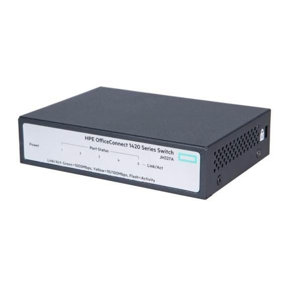 Image of Hpe Officeconnect 1420 Gigabit 5 Port Unmanaged Switch
