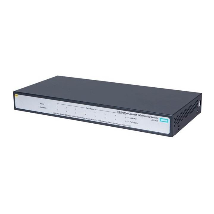Image of Hpe Officeconnect 1420-8g Poe+ (64w) Switch Jh330a