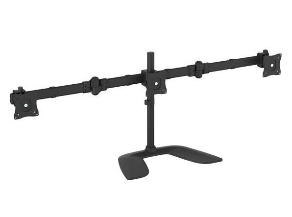 """Image of Startech Triple Monitor Stand For Vesa Mount Monitors Up To 27"""" - Steel Armbartrio2"""