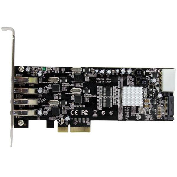 Image of Startech Pexusb3s44v 4 Port Quad Bus Pcie Usb 3 Card W/ Uasp