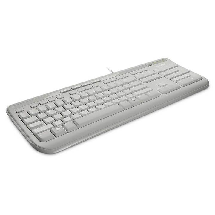Image of Microsoft Wired Keyboard 600 - White Anb-00034